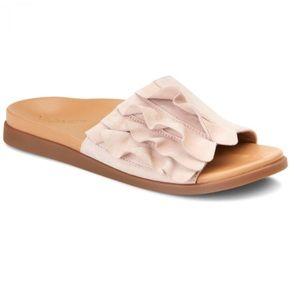 Vionic Roni Suede Ruffle Slide Sandal